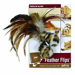 Feature feather attachements that are securely attached to soft fleece balls with velcro. Place them all over your house to provide endless entertainment and a hunting challenge for your cat.