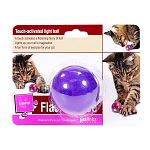 Touch-activated light ball. A fun form of exercise for your cat. Touch activated lights inside the ball invite your cat to dance across the floor in hot pursuit!