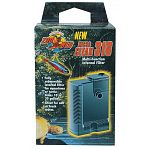 Multi-function internal filter for aquariums, terrariums or small ponds. For 10 to 30 gallon tanks. For fresh or saltwater applications. Contains micro pump 104. Dual intake prevents turtle scuts for blocking the water intake grill.