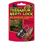 Lock for terrariums. 3 position tumbler can be set to any desired combination. Designed for use with all Naturalistic Terrariums.  Keep your pets and children safe; Lock your terrarium!