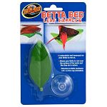 A naturalistic leaf hammock for your betta to rest on. As water evaporates, be sure to add more water to allow your Betta to swim onto the leaf.  Enclosure with suction cup (included)