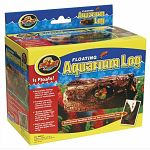 For use in aquariums for fish, also can be used for newts, frogs and other small reptiles. he log floats just at the surface sothat fish can swim inside, and bottom weighting prevents rolling over if newtsor mudskippers climb on top!