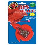 Betta food pellets specially formulated to intensify the color of your fish. New easy slide dispensing betta container gives correct feeding amount with a simple slide of the plastic tab. Includes betta feeding wand, train your betta to eat from the wand.