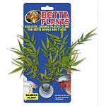 Naturalistic looking plastic plant for betta bowls and tanks. Adds a natural highlight to your betta bowl or nano tank. Provides cover for hiding and resting. Includes suction cup for easy anchoring/attachment.