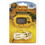 Digital thermometer for terrariums.  Digital Terrarium thermometer with digital readout in Fahrenheit or Celsius. Has a remote sensor probe for accurate.