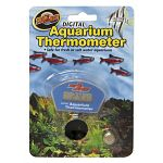 Digital Aquarium Thermometer is fully submersible in your reptile aquarium. Digital readout faces forward in the tank so that you can read it easily. Suction cups to the glass of your aquarium. The suction cups work very well and rarely fall off. Replac