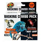 Includes Repti basking spot lamp and nocturnal infrared heat lamp. Repti basking spot lamp has a tighter beam that creates a more effective basking site than other bulbs.