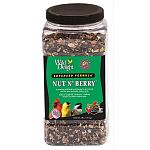 Wild delight advanced formula nut n berry wild bird food contains real fruits and nuts. A premium wild bird food blended to attract and feed the most desirable outdoor pets. Attracts songbirds, chickadees, cardinals, finches and other outdoor pets. Use w
