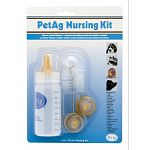 All bottle reared babies need good nutrition properly administered. PetAG nurser bottles have been designed to fill this need. Kit comes with a 4 oz. bottle, 3 different shaped nipples, and a brush to clean your bottle and nipples.