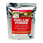 A nutritionally complete powder that is reconstituted with water for feeding orphaned or early weaned foals.