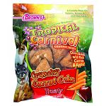 This oven-baked treat is made with high fiber carrots, apples and raisins for your pet rabbit, chinchilla, or guinea pig. This healthy treat makes a great addition to your pet's daily diet. Size of treat is 2.75 oz.