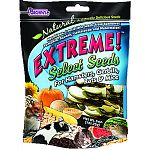 The FM Brown's Extreme Select Seeds Treats for Small Animals - 5 oz. is a tasty medley of real pumpkin, watermelon, cantaloupe and squash seeds. Your small animal pet will love this irresistable, natural and wholesome mix of harvest-fresh seeds.