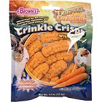 Great treat for pet rabbits, guinea pigs, chinchillas and other small animals Ridge design promotes tooth and gum health Super tasty real carrot recipe Dental health is key to small animals overall well-being