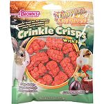 Great treat for pet rabbits, guinea pigs, chinchillas and other small animals Ridge design promotes tooth and gum health Super tasty real fruit recipe Gluten free treat