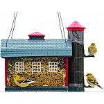 This charming Red Barn Combo Feeder by Heritage Farms adds lots of character to your yard and holds about 7 lbs. of bird seed. Feeder size is 11.5 x 9 x 12.75 inches (LxWxH).