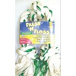 Booda Fresh N' Floss Rope Tugs contains baking soda & fluoride to help clean teeth and freshen up your dog's breath. Rope bones are great for dental hygiene because the cotton fibers vigorously brush teeth.  Spearmint flavor