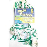 Booda Fresh N Floss Rope Tugs contains baking soda & fluoride to help clean teeth and freshen up your dog s breath. Rope bones are great for dental hygiene because the cotton fibers vigorously brush teeth.  Spearmint flavor
