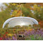 The largest clear dome on the market, therefore, the most effective dome to protect your feeder from both squirrels and the ravages of rain and snow. 18 inch diameter
