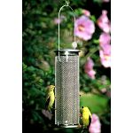 The Aspects Nyjer Mesh Finch Feeder features an excellent design that provides a feeding haven in your backyard birding sanctuary. The fine wire mesh cylinder is perfect for small clinging birds.