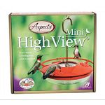 Highview perch - for unobstructed view of birds. Three feeding ports. Leak and drip proof. Built-in ant-moat - blocks crawling insects. Easy to clean - dishwasher safe. Made in the usa.