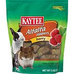 Kaytee berry nibblers are a tasty nutritious treat designed specifically for your pet. Made with the freshest alfalfa hay and real berries. Nibblers satisfy the natural craving to chew while supplying your companion with a wholesome nutritious treat. Feed
