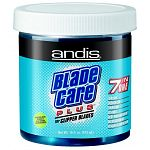Andis 7-in-1 Blade Care Plus is a coolant, deodorizer, lubricant, cleaner, rust preventative, decontaminator and is vitamin E enriched. Formulated for hair stylists, barbers, animal groomers and vets. 16 oz. jar.