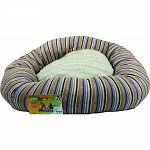 Reclaimed poly cotton yarn donut shaped pet bed Exceptional quality, unbeatable value 100% usa manufacturing & materials