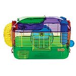 The CritterTrail One Home by Super Pets is one of the world's most popular small animal home for hamsters, mice and gerbils. This home features an unique pet zone that allows you to easily reach in and pet or feed your furry little friend.