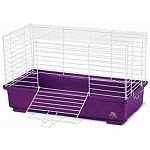 This cage makes a great first home for a variety of small animal pets, especially guinea pigs and dwarf rabbits. Compact size fits nicely anywhere you place, but has lots of room inside for your pet. Easy to keep clean and assemble.