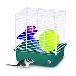 My First Hamster Home - 2 Story Cage for Small Pets makes a roomy, comfortable home your small animal pet. Perfect for gerbils, hamsters and mice and makes a great starter home for your pet. Easy to assemble with no tools required.