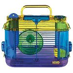 CritterTrail Mini Two Cage for Small Animals by Super Pet is the ideal cage for mice, hamsters and gerbils. Cage includes a 10 oz. water bottle, a corner food dish and a Comfort wheel for lots of exercising. This fun cage is also a pet carrier.