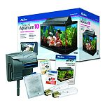 Easy-to-use basic starter kit that contains the necessary equipment for successful fish keeping. Features complete aqueon lighting and filtration systems.