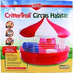 A circus of fun for hamsters, gerbils, or mice Frolic and play under the big top Unique round design in fun circus shape - no chew points Cannon hideaway provides a safe spot to nest and rest Easy to clean, easy to see