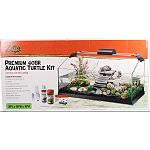 A sophisticated twist on a traditional turtle habitat These kits include an elegant chamfered front, open-topped aterrarium, premium heat and uvb lighting, and filtration unit Filtration unit doubles as a naturalistic basking and climbing surface Comes wi