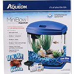 Desktop fish tank with a modern and artistic design Simple set-up and maintenance Aquarium filter and pump included