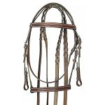 No compromises here. Good workmanship, great styling and quality pre-conditioned leather. Elegant hand crafted fancy stitched bridle, includes matching 5/8