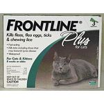 Frontline Plus provides your cat with the most complete spot-on flea and tick protection available. In addition to killing 98-100% of adult fleas on your cat within 24 hours, Frontline Plus contains ingredients that kills flea eggs. 3 month supply