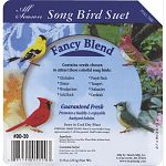 High energy. Ideal for suet and seed eating birds year round. Each cake is 9.25 oz. Sold in case of 16. Attracts song birds like chickadees, woodpeckers, gold finch, nuthatches, purple finch and cardinals.