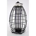 Protective cage keeps the squirrels out! All metal construction. Holds up to 2 pounds of mixed seed.