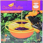 Holds 6 ounces of oriole nectar and 4.5 ounces of grape jelly Built-in center ant moat helps keep small crawling bugs out Features a durable steel hanging hook Easy to clean