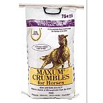 The Maxum Crumbles Equine Feed Supplement is designed for your performance horse because it provides the needed vitamins, minerals and electrolytes that are essential to your horse. Helps to prevent dehydration, while providing beneficial nutrients.