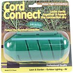 Provides a water-tight connection between two power cords and locks them together to keep them from coming apart. Use with de-icers, lawn and garden equipment, power tools, outdoor lighting, pond equipment, christmas lights and more. A simple, practical a