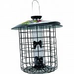 Combines a very popular tubular style feeder with a 10.5-inch diameter black wire cage that allows songbirds easy Clearance through the 1.5-inch openingsrts and easy to clean Open cage bottom allows hulls to fall through Songbirds are easily able to enter