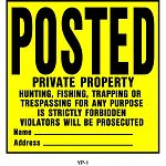 POSTED:  Private Property 11x11 inch signs   Plastic.