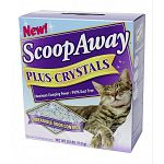 Scoop Away Cat Litter - Plus Crystals combines moisture-absorbing litter with odor-trapping crystals for a tough odor-fighting formula, leaving you with a fresher, cleaner-smelling house!