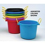 Excellent all around bucket. Large capacity (70 quarts) with extra heavy wall construction, this handy bucket/basket is ideal for both stable and household use. For toy storage, carrying laundry, as an ice chest, you name it.