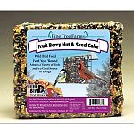 The Pine Tree Farms Fruit, Berry, & Nut Seed Cake provides a great source of high energy to your backyard birds, which have a very high metabolism. The Fruit, Berry, & Nut Seed Cake is for year-round feeding & consists of the finest ingredients.