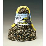 This seed bell may be placed in its own net to double as its own feeder and it is small enough that several may be hung to establish multiple feeding zones. The convenience and size of this Finch Seed Bell make it an ideal way to feed inches.<