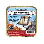 The Pine Tree Farms Never Melt Hot Pepper Suet provides a great source of high energy to your backyard birds, which have a very high metabolism. Suet is a high-energy formulation of animal fat.