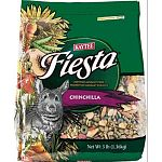 KAYTEE FIESTA is the leading fortified gourmet food for Chinchillas. FIESTA'S unique formula provides essential nutrients in an exciting mixture of high quality fruits, vegetables, nuts, specialty seeds and grains. Weight is 3 lbs.